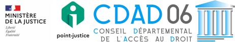 Conseil Départemental de l'Accès au Droit des Alpes-Maritimes Logo